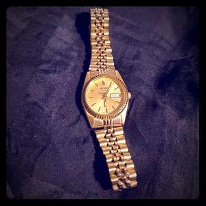 Seiko Watch Goldtone 7N83 006M